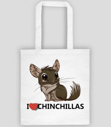 torba na prezent - i love chinchillas