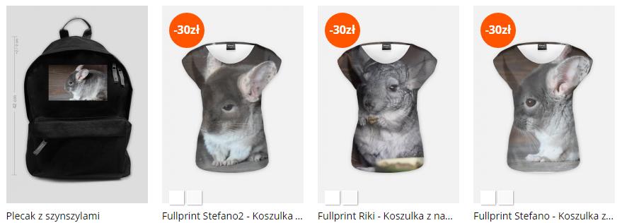 koszulki z szynszylami - szynszyle - blog o szynszylach