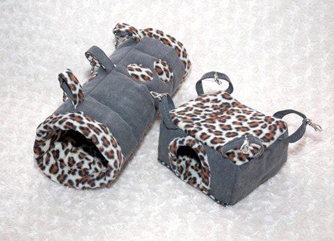 materiałowe domki dla szynszyli i gryzoni - blog o szynszylach