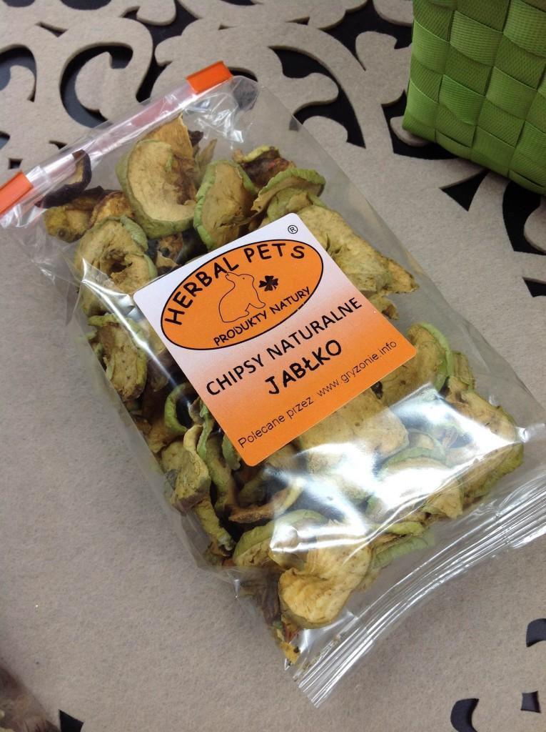 Herbal Pets - suszone jabłka dla szynszyli - jedzenie dla gryzoni