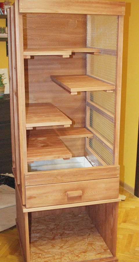 drewniana woliera dla szynszyli / klatka dla szynszyli woliera dla gryzoni sklep cena