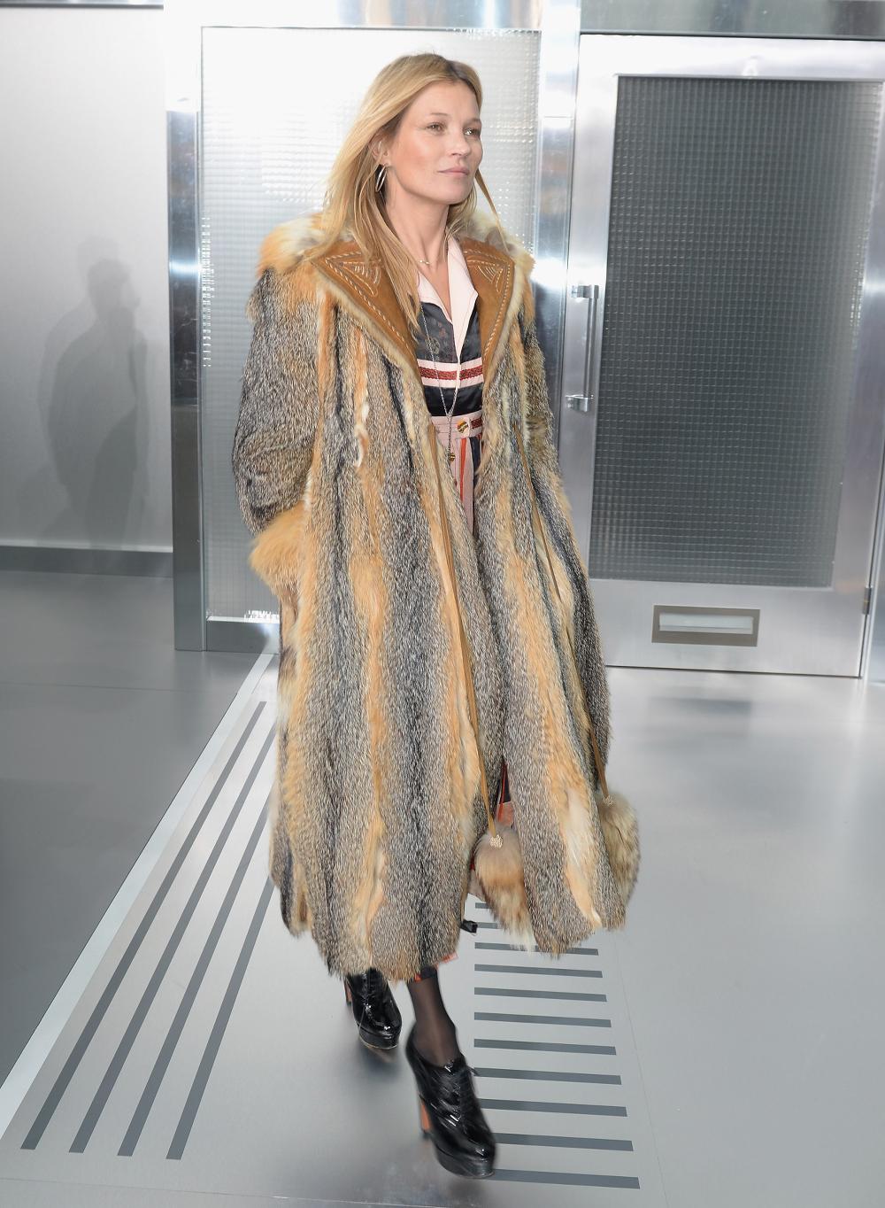 Kate Moss naturalne futro