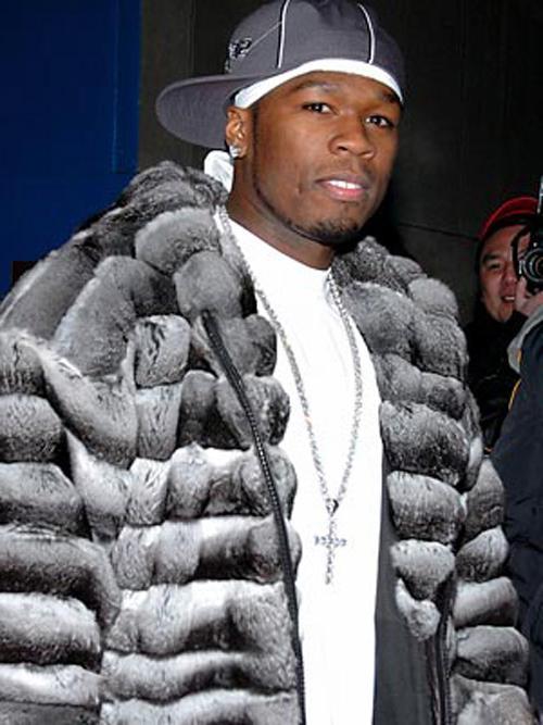 50 Cent - futro z szynszyli