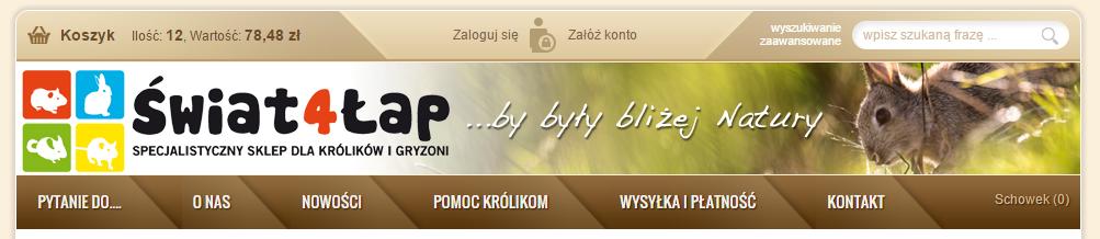 świat4lap.pl internetowy sklep zoologiczny dla gryzoni - opinia